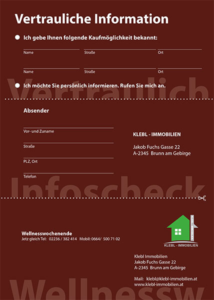 Flyer Immobilien Klebl