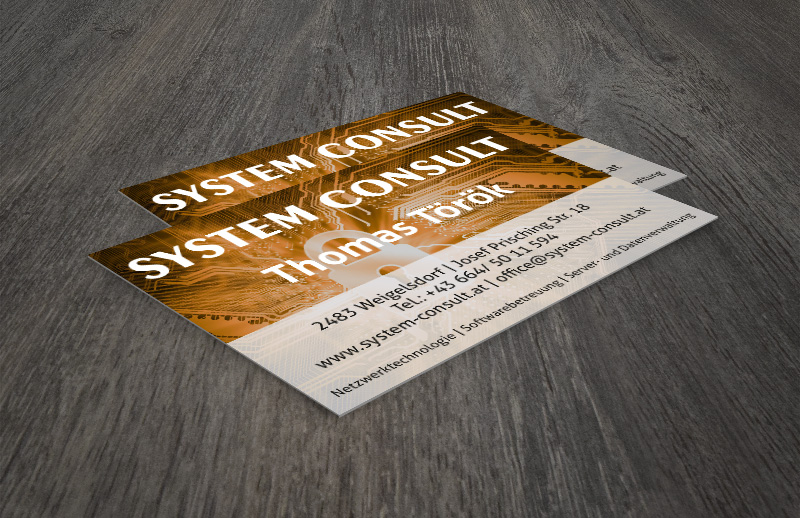 System consult vcard